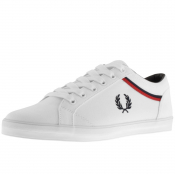 Fred Perry Baseline Microfibre Trainers White